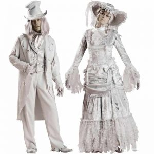 Ghost Gent and Ghost Lady Couples Costumes