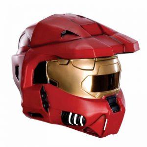 Halo Universe Red Spartan Master Chief Helmet