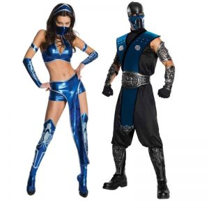 Mortal Kombat Kitana And Sub-Zero Couples Costumes