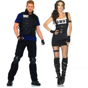 SWAT Commander And Sultry SWAT Officer Couples Costumes